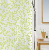 Blatt light green duschdraperi