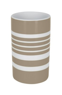 Tube stripe mugg taupe